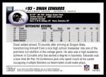 2004 Topps #358  Dwan Edwards  Back Thumbnail