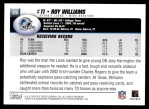 2004 Topps #320  Roy Williams  Back Thumbnail