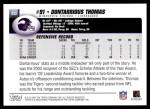 2004 Topps #332  Dontarrious Thomas  Back Thumbnail