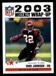 2004 Topps #305   -  Rudi Johnson Weekly Wrap-Up Front Thumbnail