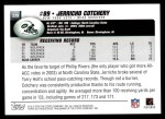 2004 Topps #339  Jerricho Cotchery  Back Thumbnail