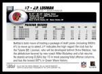 2004 Topps #380  J.P. Losman  Back Thumbnail