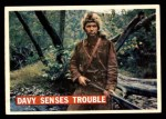 1956 Topps Davy Crockett #28   -    Davy Senses Trouble  Front Thumbnail