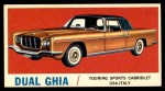 1961 Topps Sports Cars #42   Dual Ghia Front Thumbnail