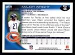 2010 Topps #46  Major Wright  Back Thumbnail