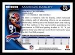 2010 Topps #122  Marcus Easley  Back Thumbnail