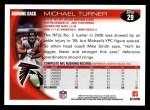 2010 Topps #29  Michael Turner  Back Thumbnail