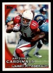 2010 Topps #80  Larry Fitzgerald  Front Thumbnail