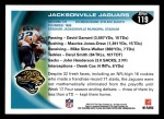 2010 Topps #119   -  Maurice Jones-Drew Jaguars Team Back Thumbnail