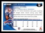 2010 Topps #98  Lee Evans  Back Thumbnail