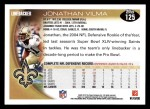 2010 Topps #125  Jonathan Vilma  Back Thumbnail