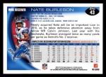 2010 Topps #43  Nate Burleson  Back Thumbnail