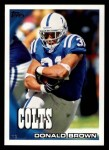 2010 Topps #131  Donald Brown  Front Thumbnail