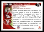 2010 Topps #173  Anthony Davis  Back Thumbnail