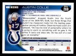 2010 Topps #269  Austin Collie  Back Thumbnail