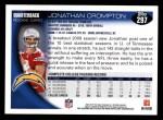 2010 Topps #297  Jonathan Crompton  Back Thumbnail