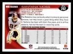2010 Topps #202  Santana Moss  Back Thumbnail