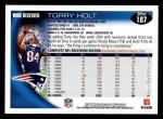 2010 Topps #187  Torry Holt  Back Thumbnail