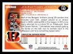 2010 Topps #182  Johnathan Joseph  Back Thumbnail