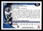 2010 Topps #157  Earl Thomas  Back Thumbnail