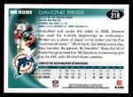 2010 Topps #218  Davone Bess  Back Thumbnail