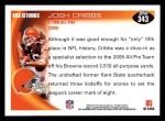 2010 Topps #343  Josh Cribbs  Back Thumbnail