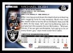 2010 Topps #338  Michael Bush  Back Thumbnail