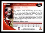 2010 Topps #304  Dominique Rodgers-Cromartie  Back Thumbnail