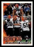 2010 Topps #377   -  Josh Cribbs / Mohamed Massaquoi Browns Team Front Thumbnail
