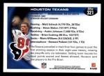 2010 Topps #321   -  Matt Schaub / Andre Johnson Texans Team Back Thumbnail