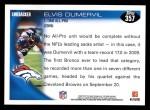 2010 Topps #357  Elvis Dumervil  Back Thumbnail