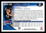 2010 Topps #381  Torrell Troup  Back Thumbnail