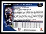 2010 Topps #316  Marion Barber  Back Thumbnail