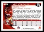 2010 Topps #329  Vernon Davis  Back Thumbnail