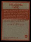 1965 Philadelphia #127   Eagles Team Back Thumbnail