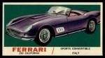 1961 Topps Sports Cars #46   Ferrari 250 California Front Thumbnail