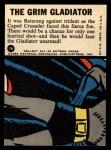 1966 Topps Batman Blue Bat Puzzle Back #7   The Grim Gladiator Back Thumbnail