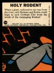 1966 Topps Batman Blue Bat Puzzle Back #35   Holy Rodents Back Thumbnail