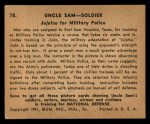 1941 Gum Inc Uncle Sam #78   Jujutsu For Military Police Back Thumbnail