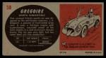 1961 Topps Sports Cars #58   Gregoire Back Thumbnail