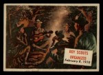 1954 Topps Scoop #123   Boy Scouts Organized Front Thumbnail
