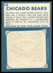 1961 Topps #18   Bears Team Back Thumbnail
