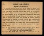 1941 Gum Inc Uncle Sam #27   Shore Rifle Practice Back Thumbnail