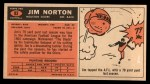 1965 Topps #83  Jim Norton  Back Thumbnail