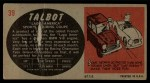 1961 Topps Sports Cars #39   Talbot Lago America Back Thumbnail