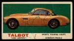 1961 Topps Sports Cars #39   Talbot Lago America Front Thumbnail