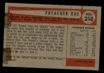 1954 Bowman #218 INK Preacher Roe  Back Thumbnail