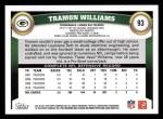 2011 Topps #93  Tramon Williams  Back Thumbnail