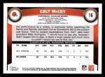2011 Topps #16  Colt McCoy  Back Thumbnail