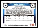 2011 Topps #67  David Gettis  Back Thumbnail